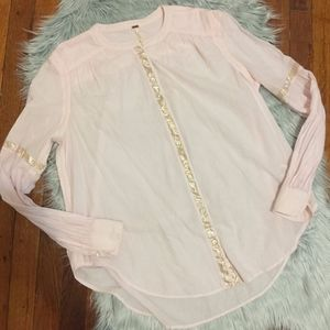 Anthropologie Free People Cotton Tunica Shirt S